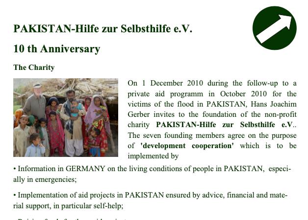 10th Anniversary PAKISTAN Hilfe zur Selbsthilfe e.V.